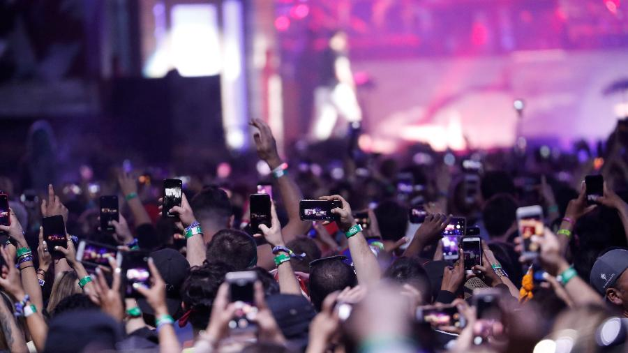 Público durante show de Eminem no Festival Coachella em 2018 - MARIO ANZUONI