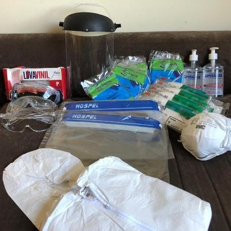 Lotes de EPI usados por profissionais da área da saúde - Reprodução