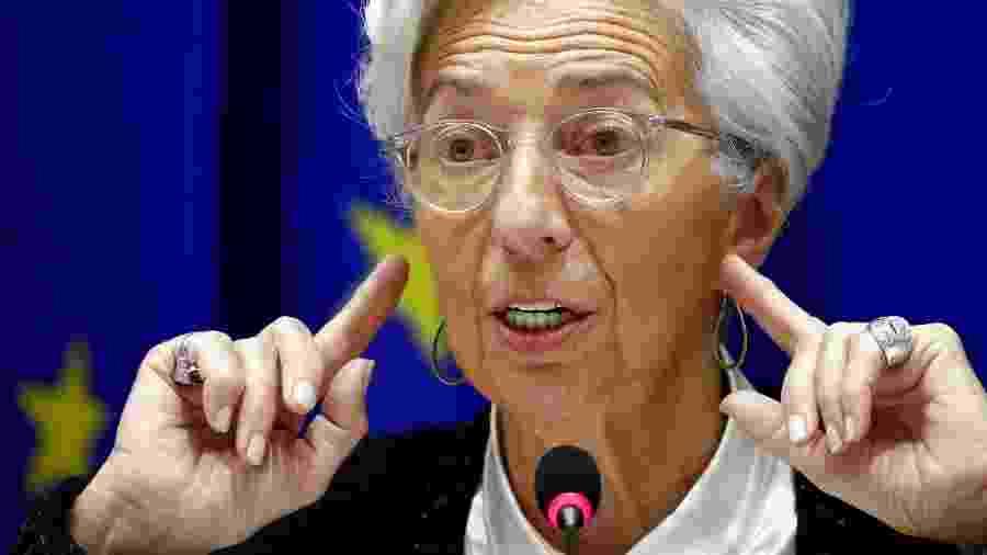 """Christine Lagarde, presidente do Banco Central Europeu: """"Sem complacência!"""" - Francois Lenoir"""
