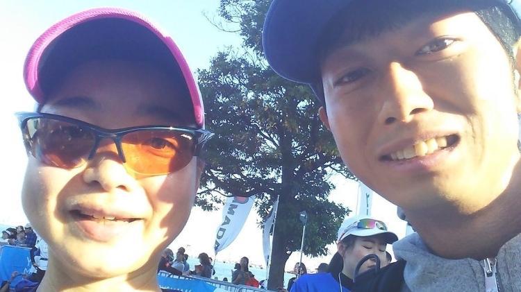 Certa vez, Morimoto foi contratado por um cliente para encorajá-lo a completar uma maratona - Shoji Morimoto/Twitter - Shoji Morimoto/Twitter