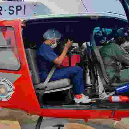 Equipe médica transporta coração de Ribeirão Preto para São José do Rio Preto, no interior de São Paulo - Divulgação/HCM - Divulgação/HCM