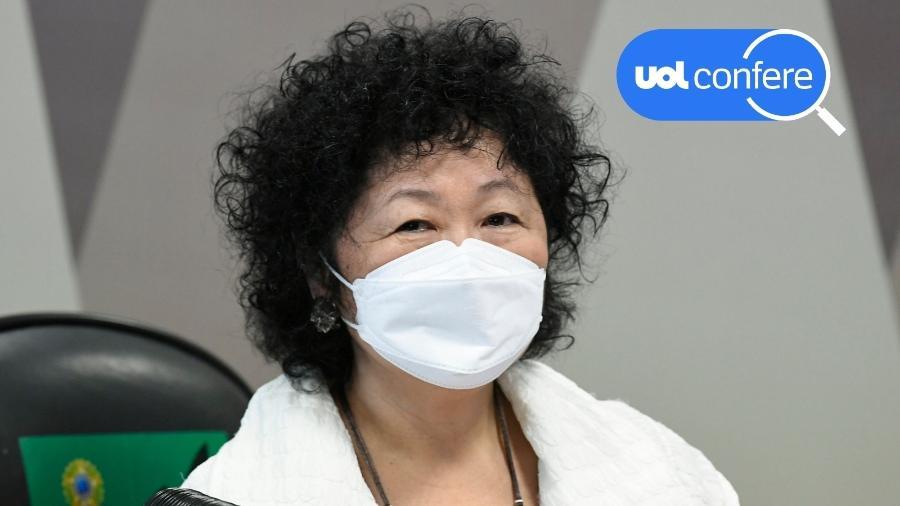 1º.jun.2021 - A médica Nise Yamaguchi presta depoimento à CPI da Covid no Senado - Jefferson Rudy/Agência Senado
