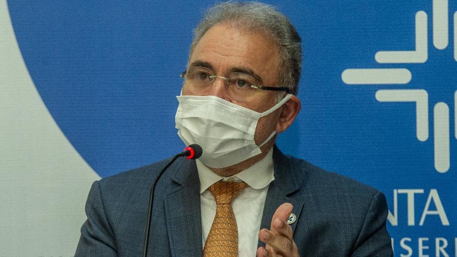 """""""Não podemos ter municípios criando regras próprias"""", defendeu o ministro da Saúde, Marcelo Queiroga - Evandro Leal/Agência Free Lancer/Estadão Conteúdo"""