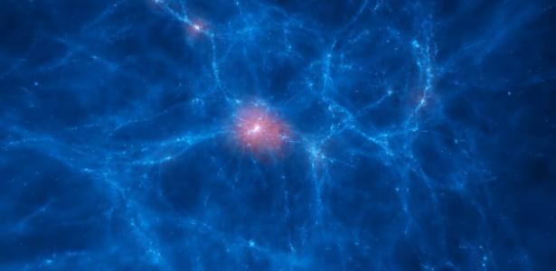 Galáxias que se nutrem de gás cósmico são observadas pela primeira vez
