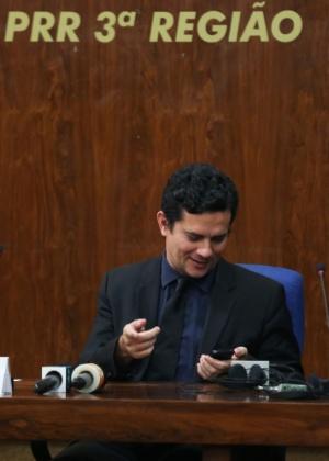 Moro participou de evento em São Paulo e palestrou sobre corrupção