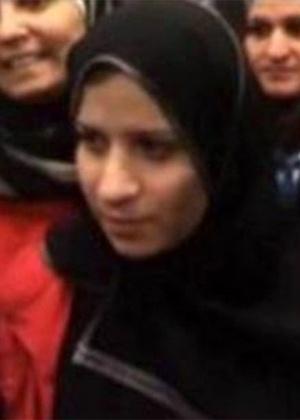 Reprodução de vídeo em que supostamente aparece a ex-mulher do líder do EI