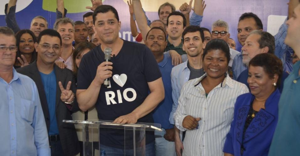 5.ago.2016 - O PSD oficializou em convenção na Tijuca, na zona norte do Rio, a candidatura do deputado federal Índio da Costa à Prefeitura do Rio