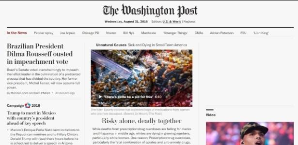 """O """"The Washington Post"""" classificou o processo como """"difícil, mas necessário"""""""