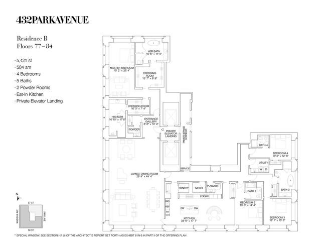 06.set.2016 - O 432 Park Avenue tem projeto do uruguaio Rafael Viñoly, mesmo arquiteto do edifício