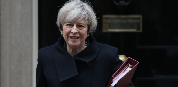 A primeira-ministra britânica Theresa May - Daniel Leal-Olivas/AFP