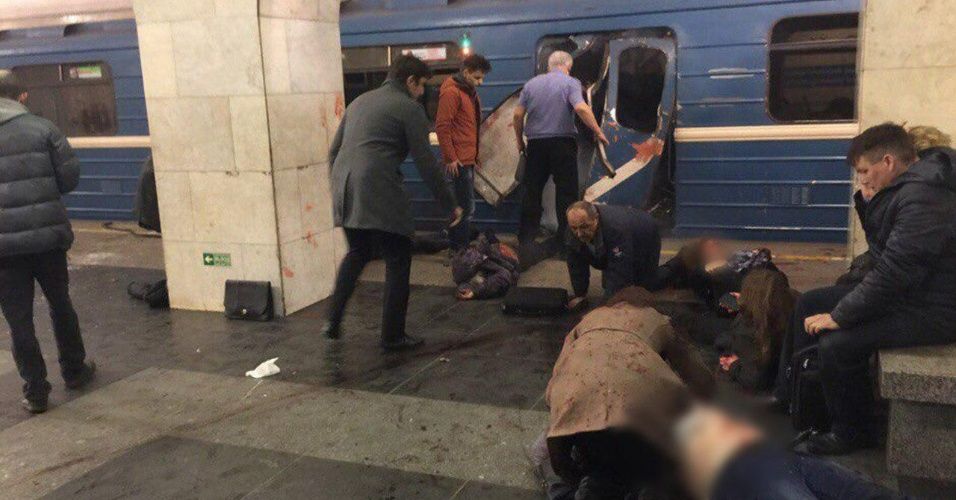 Ataque a bomba no metrô de São Petersburgo, na Rússia
