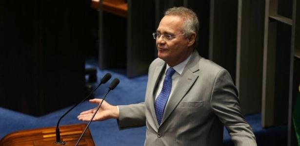 Renan Calheiros (PMDB-AL) na tribuna do Senado