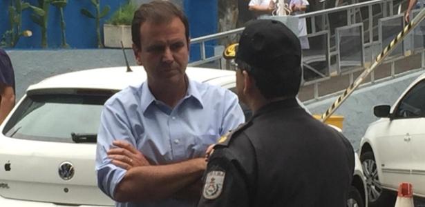 09.out.2018 - Eduardo Paes visitou o Hospital da Polícia Militar no centro do Rio