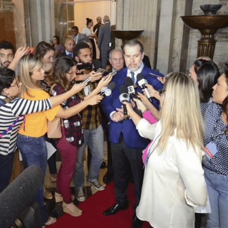 Dias Toffoli, presidente do STF, concede entrevista à imprensa em Salvador - Divulgação/TJ-BA