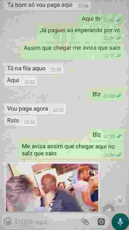Mensagem no Whats de Miguel para Débora - Reprodução/WhatsApp - Reprodução/WhatsApp