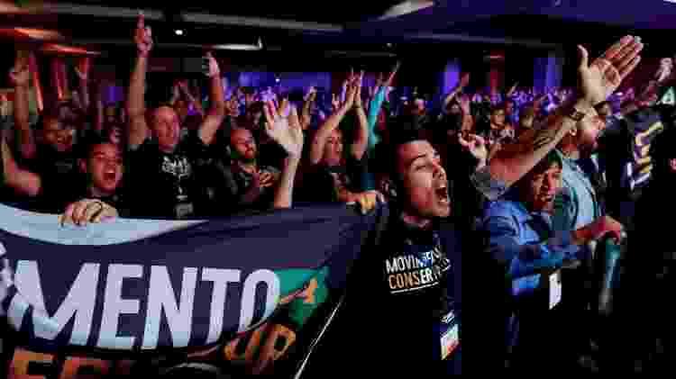 Ativistas de direita durante o evento CPAC Brasil - MARCELO CHELLO/CJPRESS/ESTADÃO CONTEÚDO - MARCELO CHELLO/CJPRESS/ESTADÃO CONTEÚDO