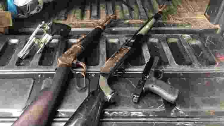 Além da pistola, outras três armas foram encontradas no imóvel onde estava Nóbrega, segundo a polícia - Divulgação/SSP-BA - Divulgação/SSP-BA