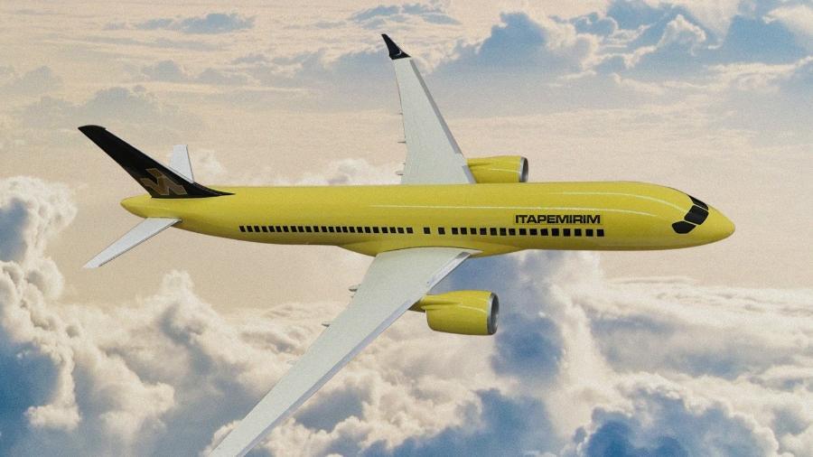 Empresa já definiu como será a pintura de seus aviões - Reprodução/montagem