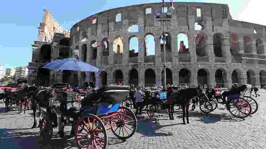 Cavalos como meio de transporte só poderão ser usados com fins turísticos em parques - Stefano Rellandini/REUTERS