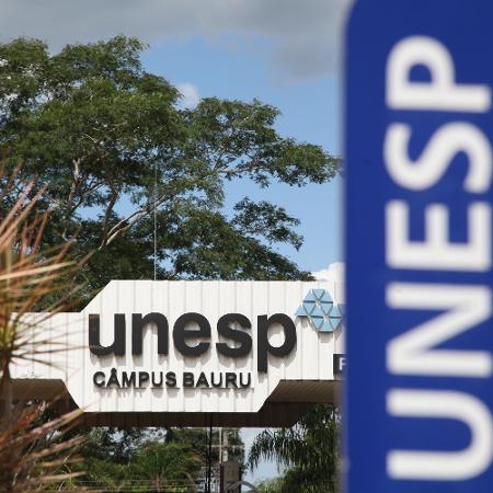 30.jan.2021 - Entrada do Campus de Bauru (SP) da Unesp (Universidade Estadual Paulista) - DENISE GUIMARÃES/FUTURA PRESS/ESTADÃO CONTEÚDO