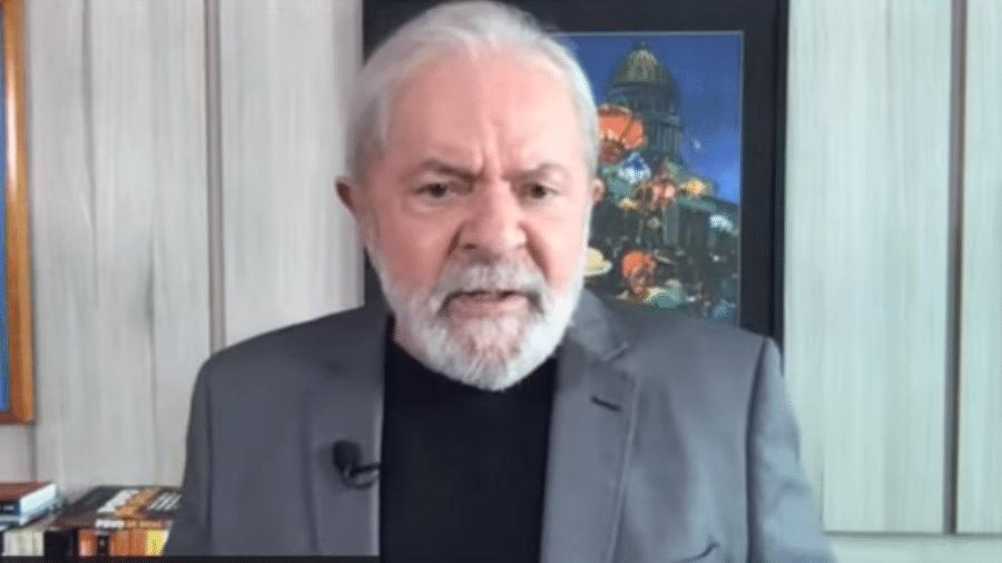 08.abr.2021 - O ex-presidente Luis Inácio Lula da Silva em entrevista ao Diário do Centro do Mundo - Reprodução DCM