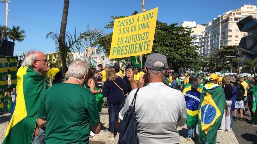 Ato pró-Bolsonaro e a favor do voto impresso em Copacabana, no Rio de Janeiro - Lola Ferreira/UOL