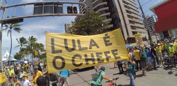 Manifestação é encerrada no Recife; PM não divulga estimativa de público - Jefferson Ted/via WhatsApp