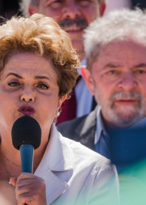 O ex-presidente Luiz Inácio Lula da Silva e a presidente afastada, Dilma Rousseff,