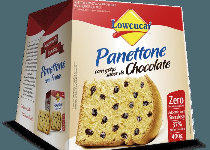 Panetone Lowçucar zero adição de açúcares 400g chocolate R$ 26,20