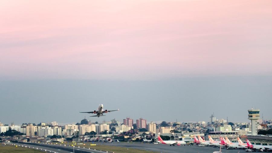 Decolagem no aeroporto de Congonhas - Fernando Podolski/Getty Images