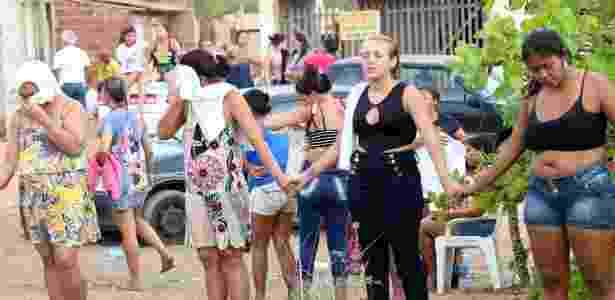 Familiares de detentos aguardam notícias após as mortes registradas no presídio de Alcaçuz - Frankie Marcone/Futura Press/Estadão Conteúdo