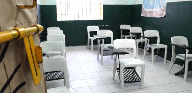 As jovens internas têm acesso a mesma grade curricular da rede estadual de educação