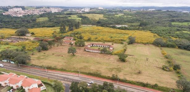 Vista área do terreno de propriedade do Exército na região de Campinas