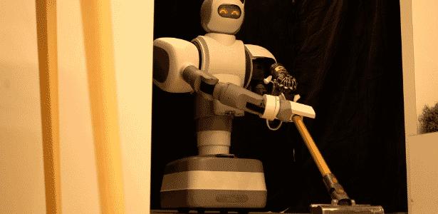 """Um dos robôs mais versáteis da CES, o Aeolus parece vindo direto dos """"Jetsons"""" - Divulgação"""
