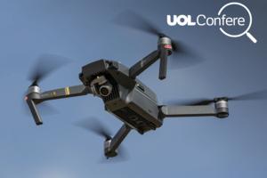 Polícia não usa drone para multar quem fala ao celular enquanto dirige (Foto: Arte UOL sobre foto de Omer Messinger/Getty Images)