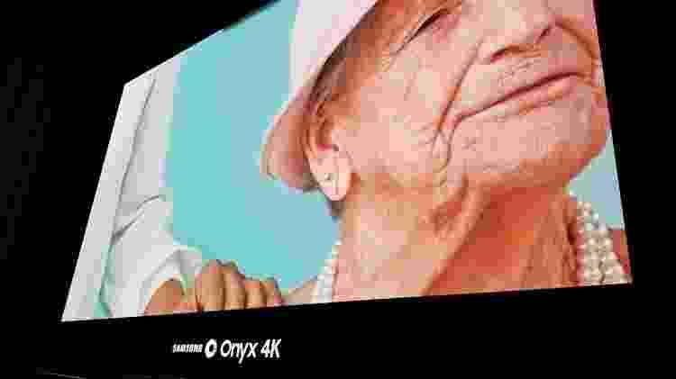 Tela da Cinépolis Samsung Onyx 4k vista de perto - Márcio Padrão/UOL