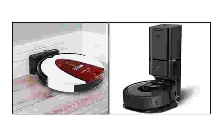 Housekeeper Pro e Roomba i7+: com suas bases - Divulgação - Divulgação