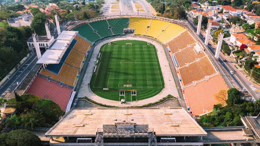 Estádio do Pacaembu, em São Paulo, receberá a final da Copinha amanhã - Reprodução