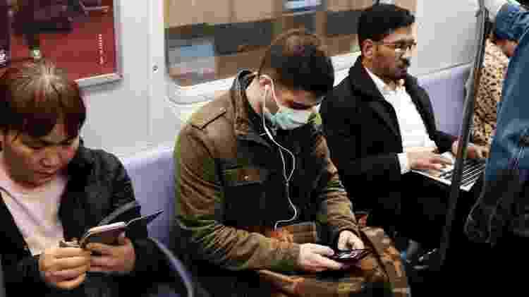 Máscara metrô Nova York - Spencer Platt/Getty Images - Spencer Platt/Getty Images