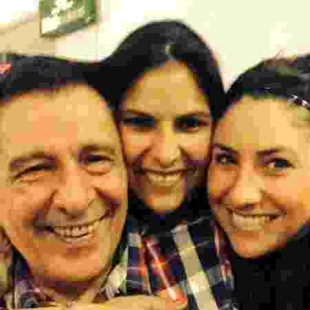 Da esq. para dir.: Walter, Antônia e Mariana Balestra - Arquivo pessoal - Arquivo pessoal