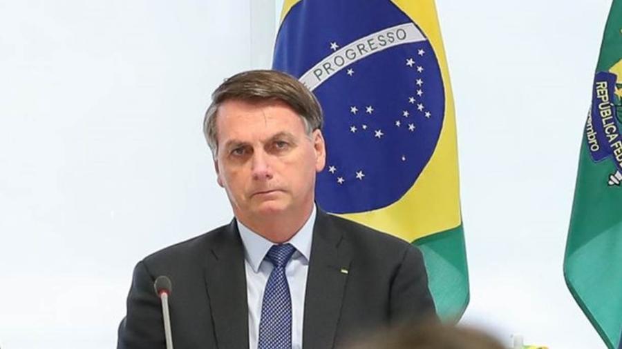 """Jair Bolsonaro (sem partido) passou a receber políticos do chamado """"centrão"""" e a negociar cargos federais - Palácio do Planalto"""