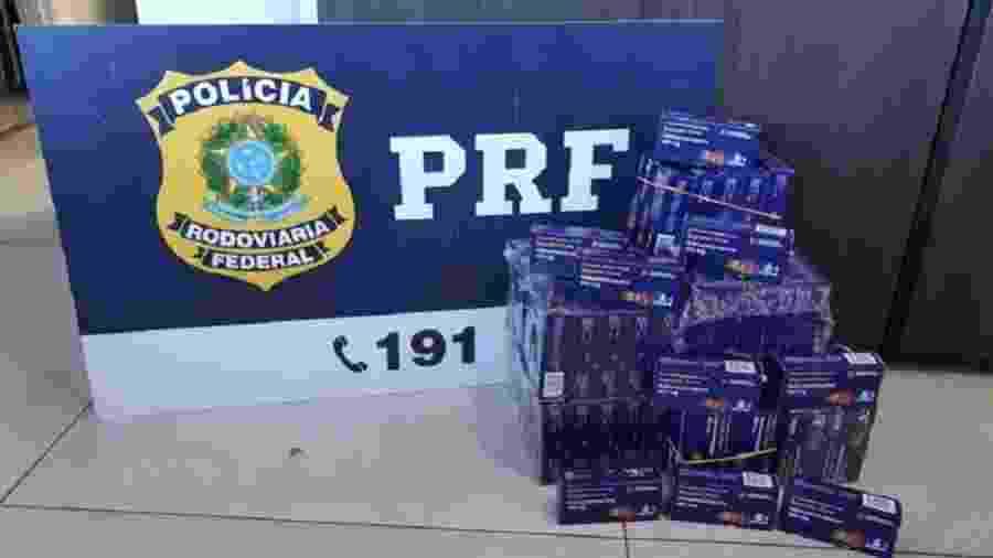 Caminhonete que contrabandeava 3.600 comprimidos de hidroxicloroquina foi parada na BR 153, em Uruaçu (GO) - Divulgação/PRF