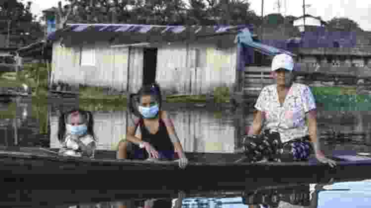 A cidade na Amazônia colombiana, no sul do país, fica em frente a Tabatinga, no estado brasileiro do Amazonas - AFP - AFP