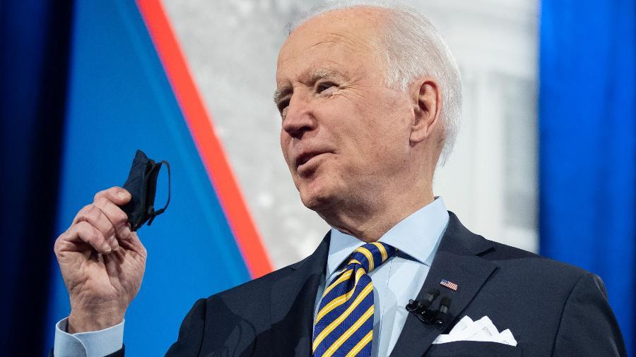 Se aprovado pelos senadores, o plano de estímulo econômico promovido pelo presidente Joe Biden voltará à Câmara dos Representantes para votação final. - Saul Loeb/AFP