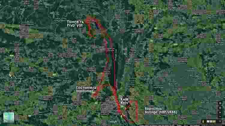 Rota voo panorâmico - Divulgação - Divulgação