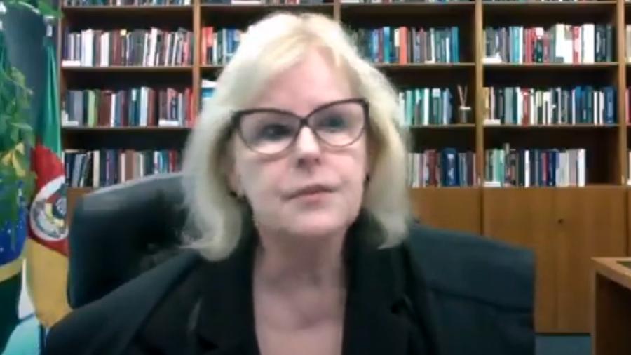 Rosa Weber, ministra do STF, participa de sessão por videoconferência - Reprodução/YouTube