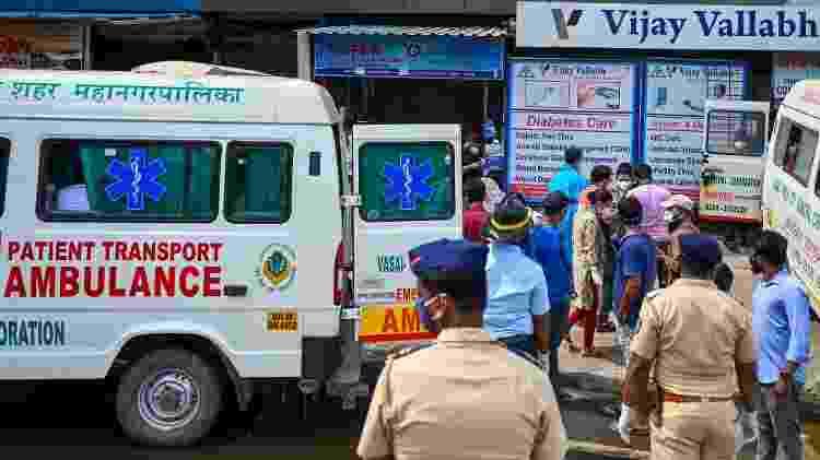 incêndio Mumbai - Punit Paranjpe/AFP - Punit Paranjpe/AFP