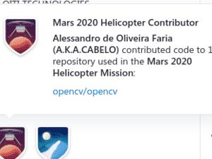 Medalha do GitHub pela contribuição com o helicóptero Ingenuity - GitHub.com - GitHub.com