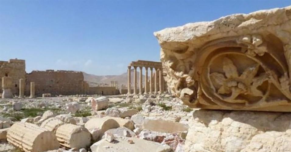 28.mar.2016 - Após dez meses sob controle do grupo extremista Estado Islâmico, a cidade histórica de Palmira, na Síria, foi libertada por tropas leais ao governante do país, Bashar al-Assad. As ruínas da cidade estão em sua maior parte intactas