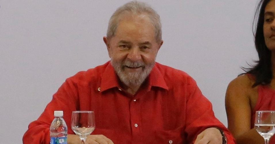 24.mar.2017 - Ex-presidente Luiz Inácio Lula da Silva participa de evento promovido pelo PT em São Paulo